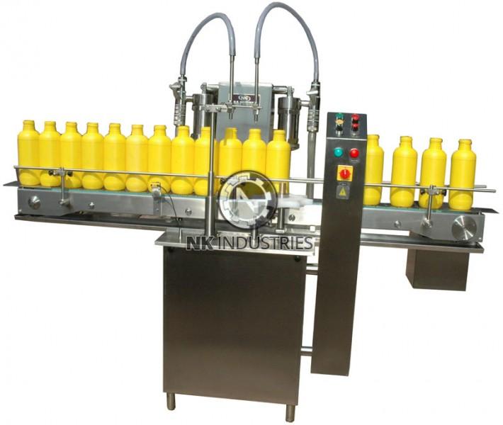 Automatic Double Head Volumetric Liquid Filling Machine