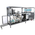 automatic mineral water jar rinsing filling capping machine