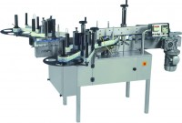 automatic double side (front & back) flat bottle sticker labeling machine