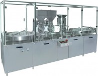 injectable dry powder filling machine with rubber stoppering